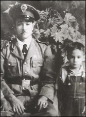Salvador Renteria with his father
